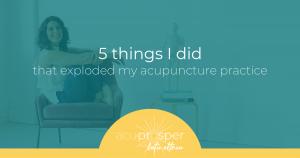 acupuncture marketing