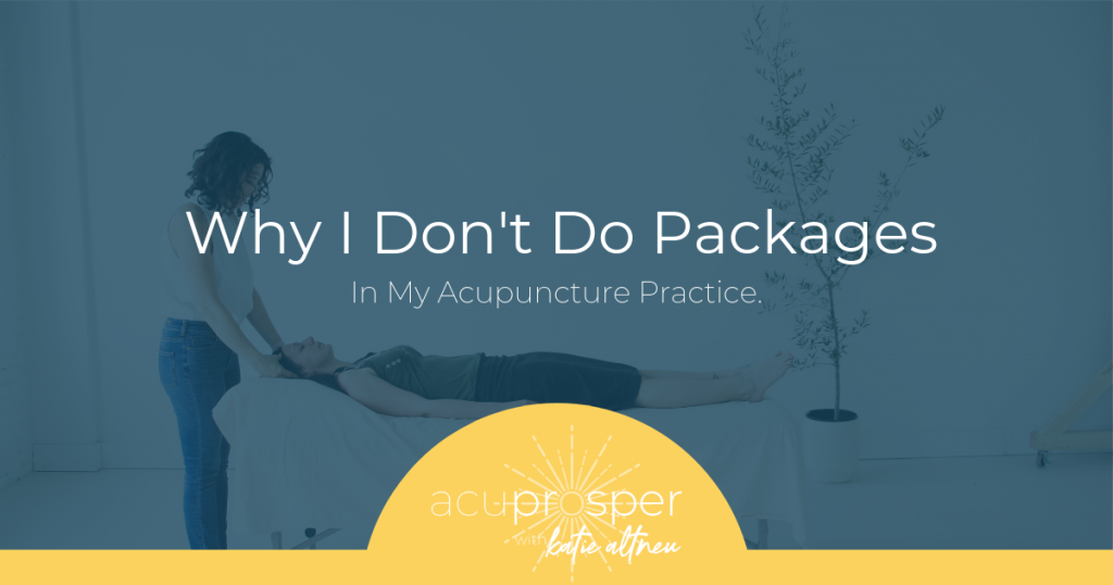 acupuncture and packages